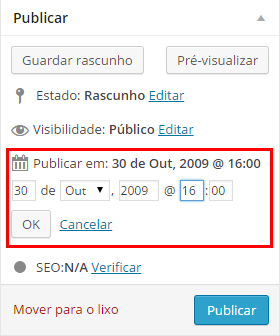 Como agendar posts no WordPress  Como agendar um post em WordPress post agendar