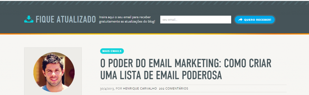 Lista de Email Marketing lista de email marketing Lista de Email Marketing: Como construir uma poderosa e eficaz! email marketing 04 1024x315